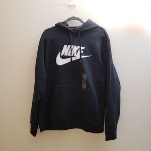 NWT, Nike Men Black Logo Pullover Hoodie, L